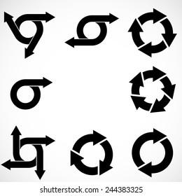 Set of Vector Circular Arrows .
