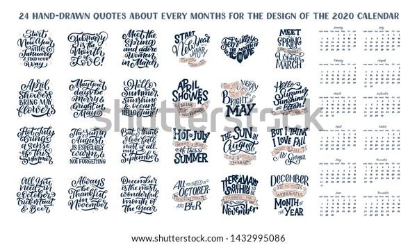 set vector compositions every months calendar stock vector