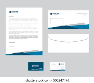 Set of vector corporate identity templates. Modern business stationery design