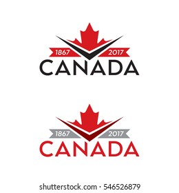 A set of vector crests celebrating the 150th anniversary of the country of Canada.