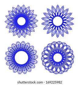 Set of vector decorative elements