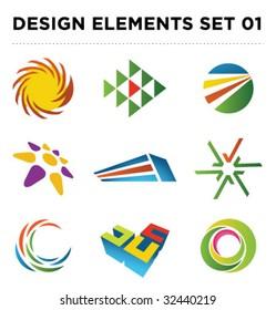 Set of vector design elements [01]