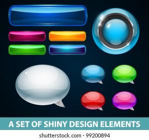 A set of vector design elements