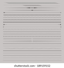 Set of Vector Dividers for page design
