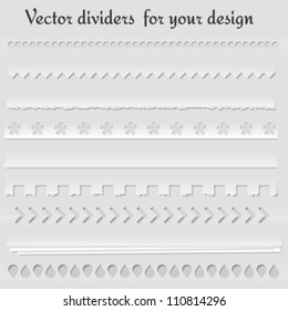 Set of vector dividers for your website and other design. Vector illustration