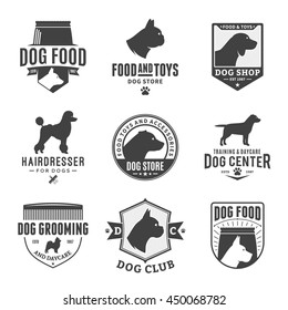 Set of vector dog logo and icons