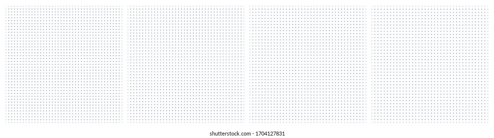 Set of vector dot grid wireframe textured pattern. Vector regular grid from dots. Set of illustrations for print and web design.