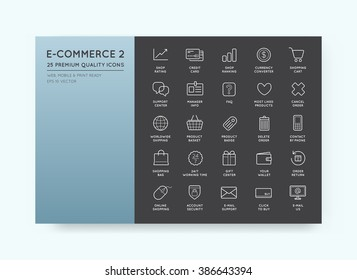 Set of Vector E-Commerce Icons Shopping and Online can be used as Logo or Icon in premium quality