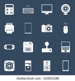 Set of vector electronic gadgets icons.  Icons for Web and Mobile Application. EPS 10.