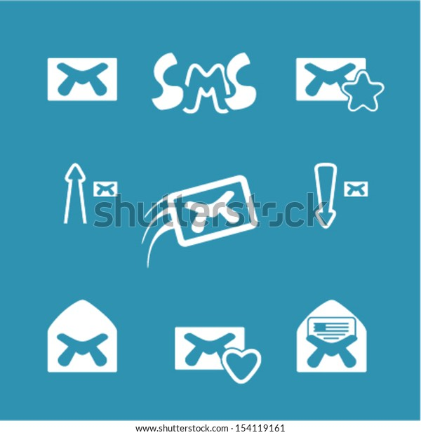 Set vector email icons.