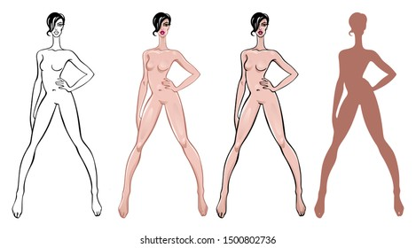 Fashion Figure Template Images Stock Photos Vectors