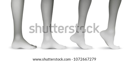 09cad1baa1c set of vector female legs. 3d illustration of lifting the leg. health and  choice