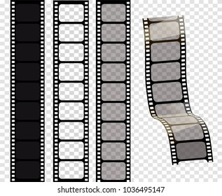 Set of vector film strips .Vector illustration of 10 EPS. stampunk style.