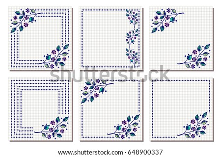 Set vector floral frame card border stock vector royalty free set of vector floral frame card border greeting cards different template with m4hsunfo