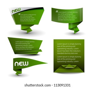 Set of vector formation banner design element.