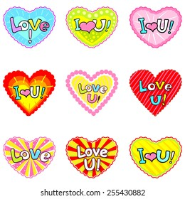Romantic Love Sticker Images Stock Photos Vectors Shutterstock