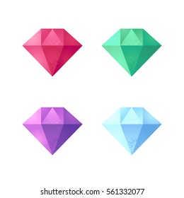 Set of vector gemstones.