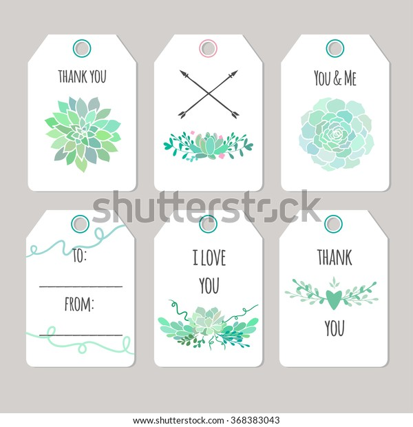 graphic about Cute Gift Tags Printable named Established Vector Reward Tags Tag Playing cards Inventory Vector (Royalty Totally free