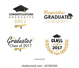 Set Of Vector Graduates Class Of 2017