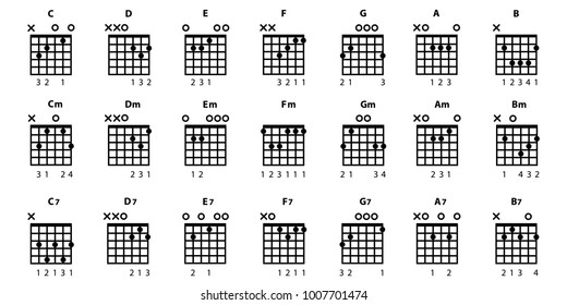 Guitar Chords Images Stock Photos Vectors Shutterstock