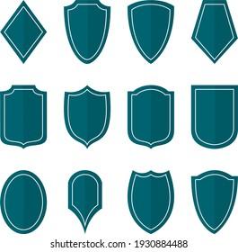 Set of vector heraldic shields