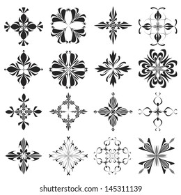 Set of vector Holy Crosses derived from ancient motives, sophisticated and decorative