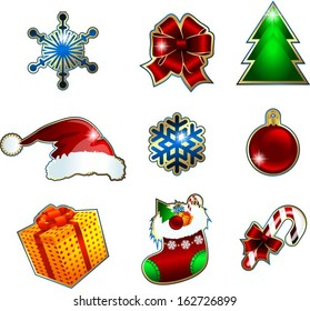 set of vector icons for Christmas