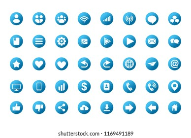 Set vector icons in flat design with elements for mobile concepts and web apps. Collection modern infographic logo and pictogram.
