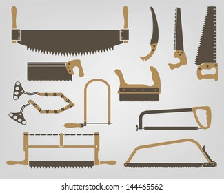 set of vector icons saws