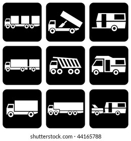 "set of vector icons to transport theme ""Only Transport"""