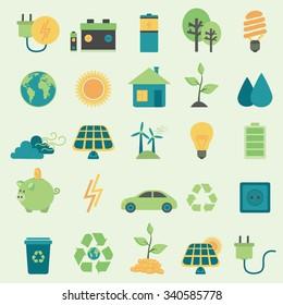Set vector icons.Alternative Energy Sources