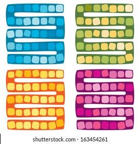 Set of vector illustration of board game for children