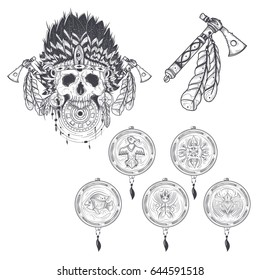 Tattoo Traditional Tomahawk Images, Stock Photos & Vectors