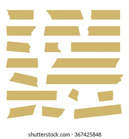 Set of Vector Illustrations of Transparent Adhesive Tapes. Stock Vector.