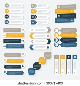 Set of vector infographics design template for your business presentations.