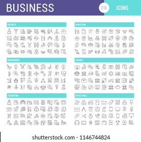 Set of vector line icons of business for modern concepts, web and apps.