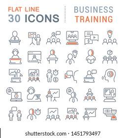 Set von Vektorgrafiken für Business Training für moderne Konzepte, Web und Apps.