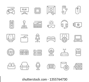 Set of vector line icons of cybersport for modern concepts, web and apps.