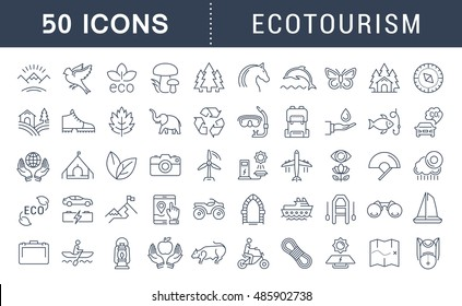 Ecotourism Icons Images, Stock Photos & Vectors | Shutterstock