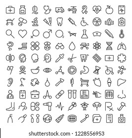Set vector line icons, Medical icons