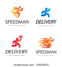 Set of vector logo design for the delivery service