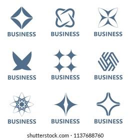 Set of vector logo design template for business.