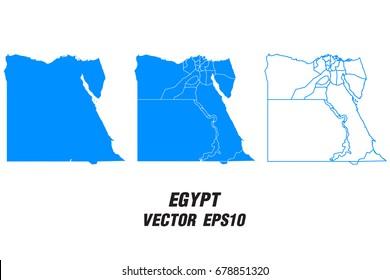 Set vector maps - Vector map of Egypt,Vector illustration eps 10.