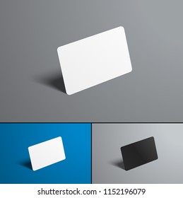 set of vector mock-ups for a bank and gift card. Isolated forms for the presentation of designs on different backgrounds.