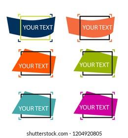Set of vector modern labels.
