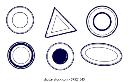 A set of vector objects - stamps