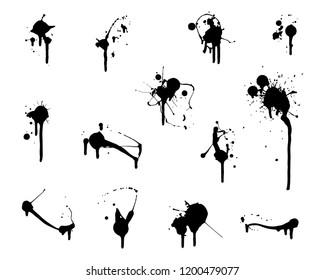 Set of vector paint splatters