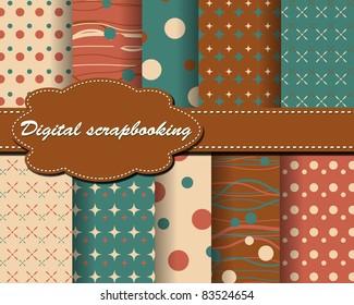 set of vector paper for scrapbook