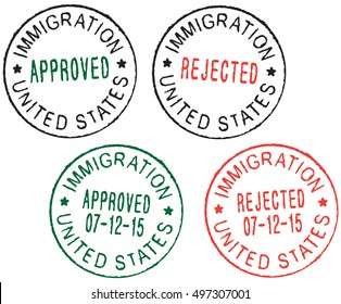 Immigration Stamp Images, Stock Photos & Vectors | Shutterstock