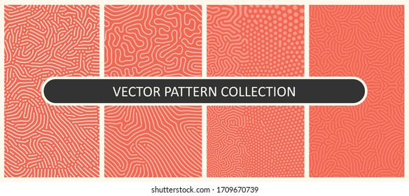 Set of Vector Patterns In Flat Colors